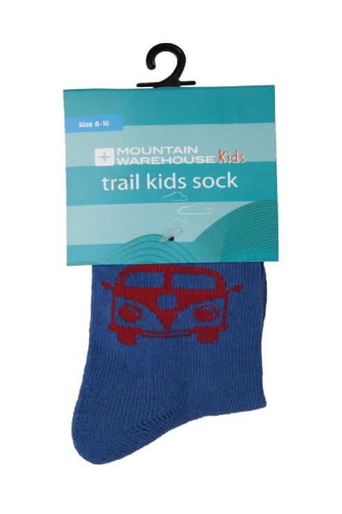 Trail Kids Patterned Stretch Lightweight Everyday Sports Socks