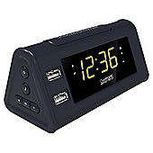 Goodmans GCRUSB03 USB FM Radio with Alarm Clock