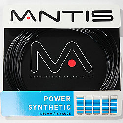 MANTIS Power Synthetic 16 Gauge Tennis Racket String 12m Reel Black