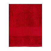 Linea Egyptian Face Cloth Red