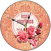 Smith & Taylor Rose De Provence Round Wall Clock in Rich Cream
