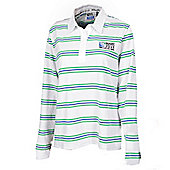 Official Rugby World Cup 2011 Womens 3 Stripe Rugby Shirt - White