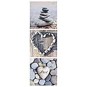 Pebbles Triptych Canvas 20X60