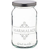 KitchenCraft Home Made 454ml Decorated 'Marmalade' Preserving Jar Loose