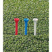Golf Locker Unisex Plastic Golf Tees (Pack of 30) in Long (69mm)