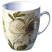 Tesco Single Porcelain Classic Flower Mug, Green