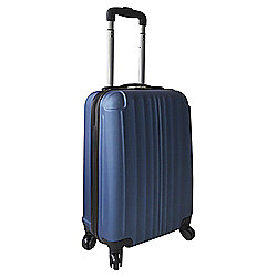 Tesco Hard Shell 4-Wheel Suitcase, Blue Small