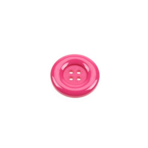 Dill Buttons 23mm Round - Cerise