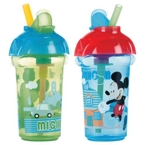 Mickey Click Lock Flip Straw Cup