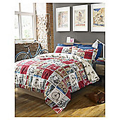 HASHTAG Bedding Cyclist Duvet Cover And Pillowcase Set, Double