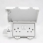 Socket Safe Twin Plug Socket Cover - White