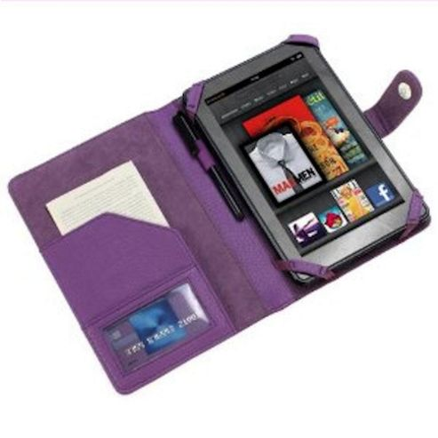 U-bop Neo-Orbit Encyclopedia Flip Case Purple - For Amazon Kindle Fire HD 7 inch