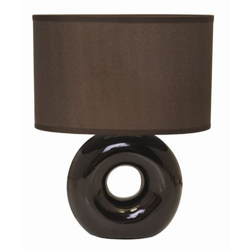 Home Essence Polo Ceramic 40W Table Lamp in Brown