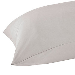 Homescapes Silver Grey Egyptian Cotton Housewife Pillowcase 200 TC, Standard Size