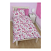 Hello Kitty Floral Party Duvet Set Single