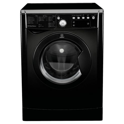 Indesit IWE81281K Washing Machine, 8kg Load, 1200 RPM Spin, A+ Energy Rating, Black