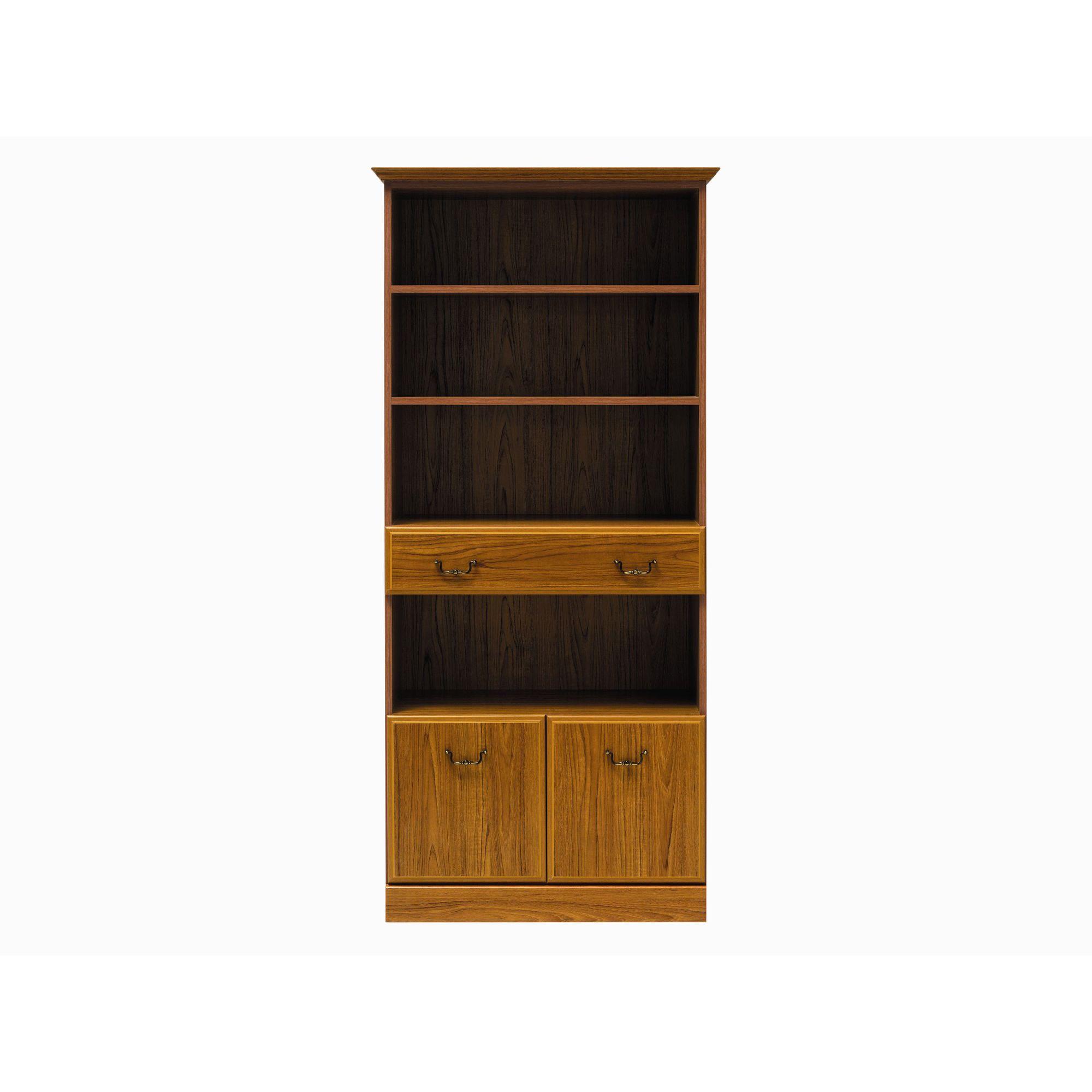 Caxton Tennyson Tall Bookcase in Teak at Tesco Direct