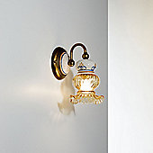 Siru Vecchia Fattoria One Light Wall Bracket - Aged Amber + Ceramica Celeste Gialla