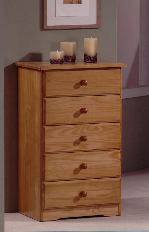 Amani Honey 5 Drawer Chest