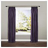"""Ripple Pencil Pleat Curtains W117xL183cm (46x72""""), Plum"""