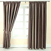 "Homescapes Purple Jacquard Curtain Modern Striped Design Fully Lined - 66"" X 90"" Drop"