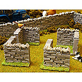 Brushwood Bt3007 Authentic Stone Wall Corner Sections - 1:32 Farm Toys