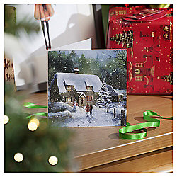 Snowy Cottage Christmas Cards, 10 pack
