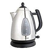 Lloytron 1.7 Litre Home Essence Rapid Boil Cordless Kettle Polished Stainless Black