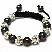 Iridescent Crystal Disco Ball Unisex Fashion Bracelet - SHAMBRAC-92