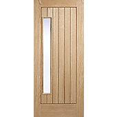 LPD Doors Newbury Oak 1 Panel Double Glazed Exterior Door - 203.2 cm H x 81.3 cm W x 4.4 cm D