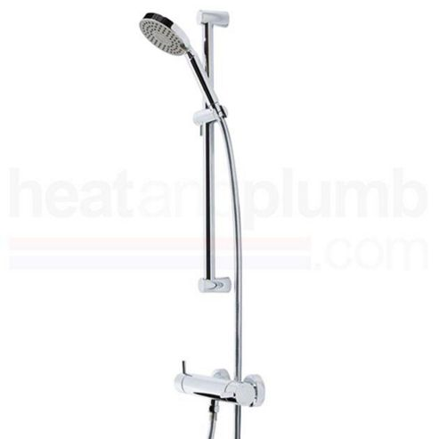 Tavistock Kinetic Thermostatic Bar Shower Valve with Multi Function Handset