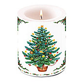 Ambiente Christmas Pillar Candle, Twinkling Tree