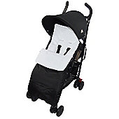 Marshmallow Super Soft Footmuff To Fit Silver Cross Cosy Toes Pushchair - White