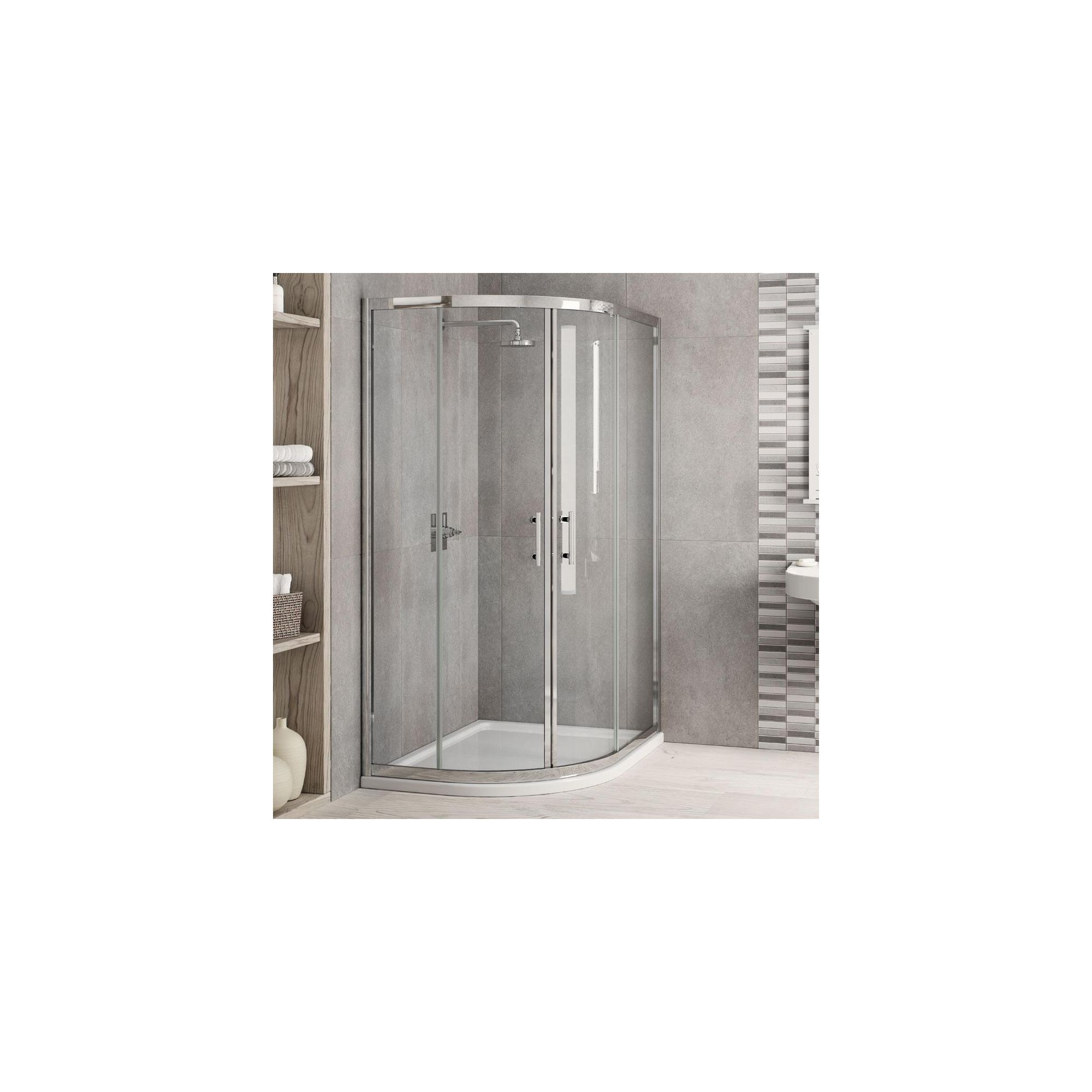 Elemis Inspire Offset Quadrant Shower Enclosure, 1000mm x 800mm, 6mm Glass, Low Profile Tray, Right Handed at Tesco Direct