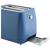 Tesco 2TIB15 Indigo Plastic 2 Slice Toaster