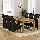 Mark Harris Furniture Rustique Classical Solid Oak Dining Table with Barcelona Dining Chairs