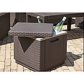 Allibert Ice Cube Table - Brown