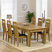 Mark Harris Furniture Rustique Classical Solid Oak Dining Table with Monte Carlo Dining Chairs