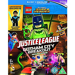 LEGO DC Justice League: Gotham City Breakout (includes Nightwing Minifigure) Blu-ray