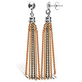Jewelco London Sterling Silver Stud Drop Earrings