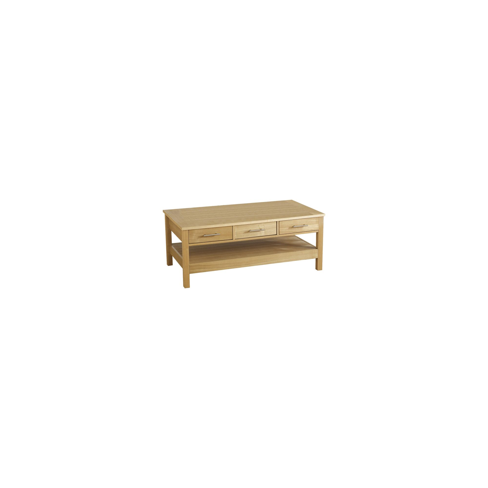 Home And Garden Furniture Home Essence Alexander Three Drawer Coffee Table In Natural Oak