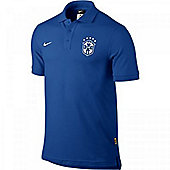 2014-15 Brazil Nike Core Polo Shirt (Blue) - Blue