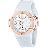 LTD RXTR Unisex White Silicone Chronograph Watch 310102