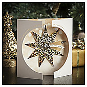 Tesco Luxury Gold Star Christmas Cards, 6 Pack