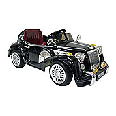 Kids Electric Car Vintage Sports Car 12 Volt Black Gloss