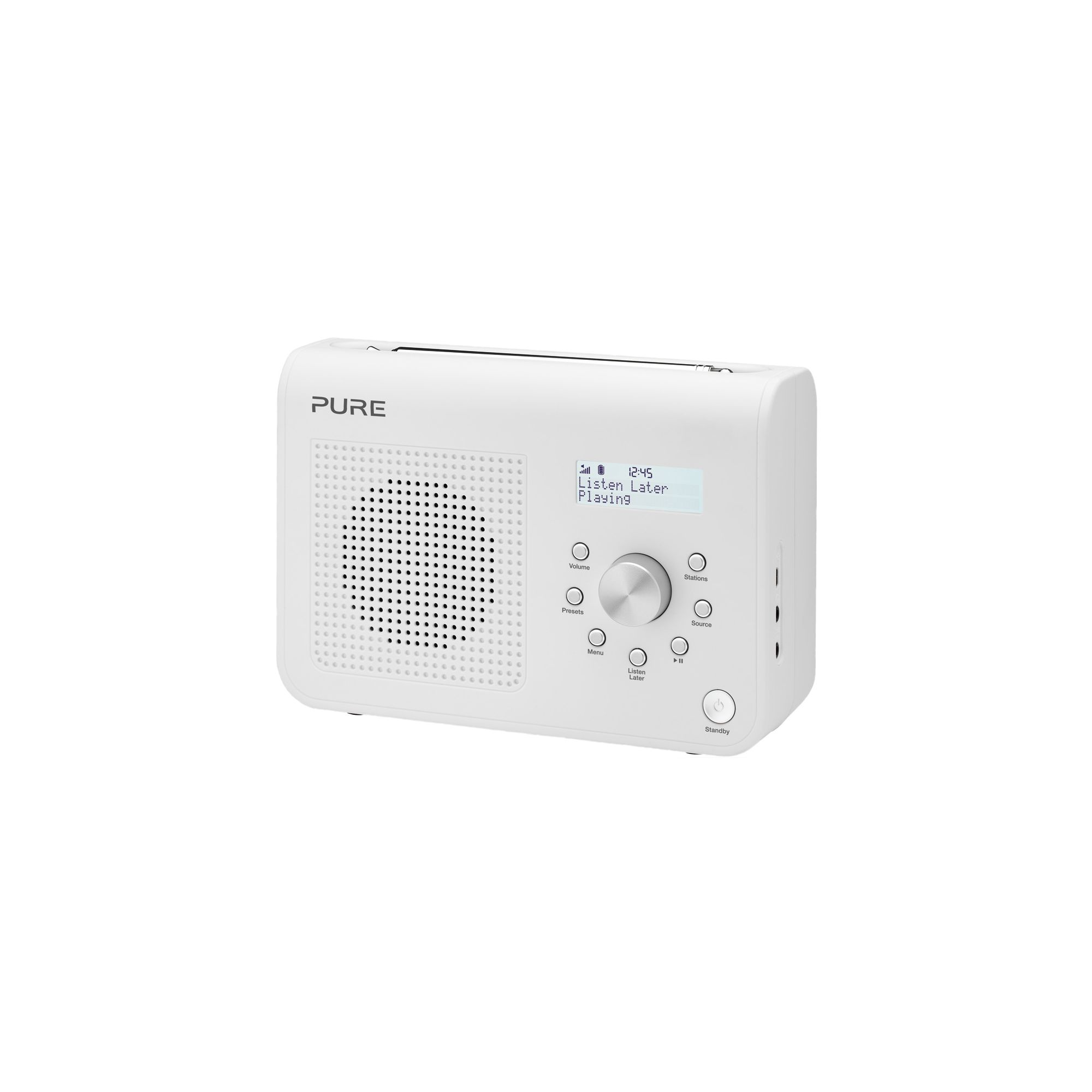 PURE ONE CLASSIC S2 DAB/FM ALARM RADIO (WHITE)