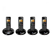 BT 3710 BRI-3710, Quad, Digital Cordless Telephone with Answerphone, Black