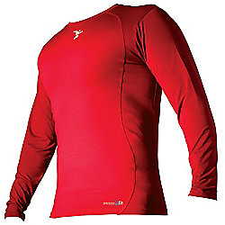 Precision Base-Layer Long Sleeve Crew-Neck Shirt Large Boys Red