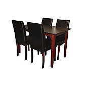 Premier Housewares 5 Piece Dining Set - Brown