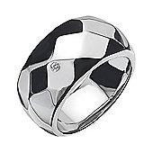 IT Diamonds Rhodium FACET Diamond Faceted Ring